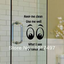 aliexpress com buy funny glass wall decal stickers family aliexpress com buy funny glass wall decal stickers family toilet bathroom glass door window glass decorative removable vinyl wall stickers from reliable