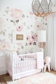 Decorating Nursery Walls In The Nursery With Monika Hibbs Floral Nursery Floral