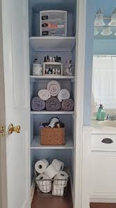 Shelving Ideas For Small Bathrooms by Organized Linen Closet Linens Storage And Spaces