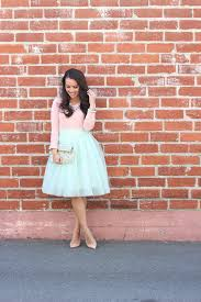 mint tulle skirt and blush tee plus loft reviews stylish petite