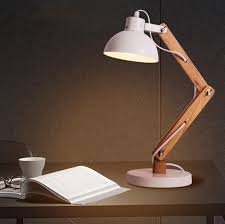 Bedroom Table Lights Simple Nordic Personality Creative Wooden Reading Table L