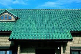 Roof Tile Colors Colored Roof Tiles Of Spanish Design Ceram21 Blue Green Color