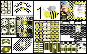 bumblebee party supplies printable diy personalized party supplies bumble bee theme