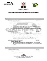 basketball resume coach basketball coach resume skills life cover letter sample coaching 1