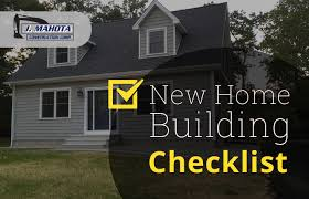 Checklist For Building A House Building A New Home