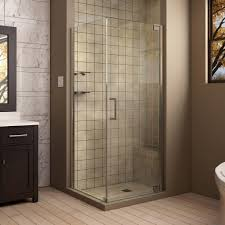 34 Shower Door Dreamline Elegance 34 In X 34 In X 72 In Semi Frameless Pivot