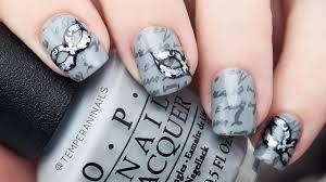 fifty shades of grey nail tutorial youtube