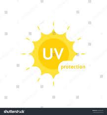 yellow uv protection logo on white stock vector 643985062