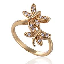 finger rings images images New 18k plating golden band rings european style dragonfly copper jpg