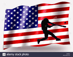 Country Flags Small Country Flag Sport Icon Silhouette Series U2013 Usa Baseball Batter