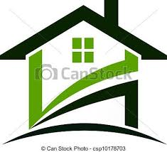 home logo icon vector green house swoosh stock illustration royalty free