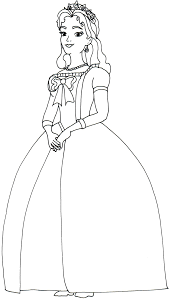 sofia coloring pages queen miranda sofia 16784