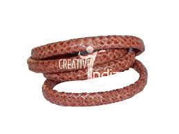 braided leather cord bracelet images Flat braided leather cords creative india manufacturer jpg