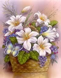 basket of flowers dc375 basket of flowers 3d decoupage sheets rainbowcrafts eu