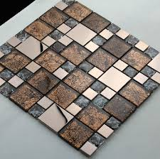 stainless steel mosaic mix glass mosaic tile kitchen backsplash