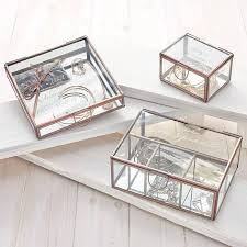 personalised jewelry box personalised compartment glass jewellery box wishlist