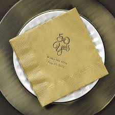 50th anniversary plate personalized 50 years 50th wedding anniversary napkins personalized set of