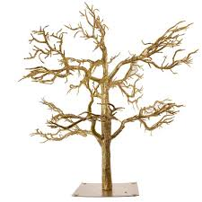 gold glitter twig tree 81cm decorations and supplies uk