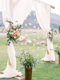 outdoor pastel keystone colorado wedding floral designs ranch