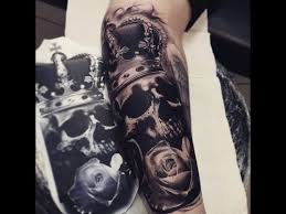 skull with crown tattoos
