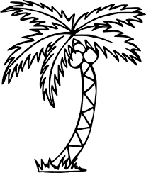 summer tree beach coloring page wecoloringpage