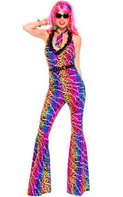 70s jumpsuit womens 1970 s s costume disco fancy dress costume