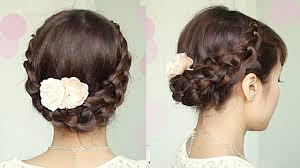 hair tutorials for medium hair crochet braid updo hairstyle for medium long hair tutorial