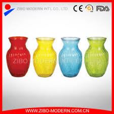 Cheap Glass Flower Vases China Colored Glass Vases Semi Color Sprayed Cheap Colored Glass
