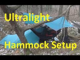 ultralight hammock and tarp setup amazonas moskito traveller