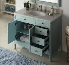46 Inch Wide Bathroom Vanity by Inch Bathroom Vanity With 4 Drawers On The Right Cottage Style