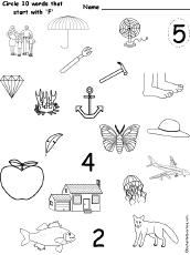 letter f alphabet activities at enchantedlearning com