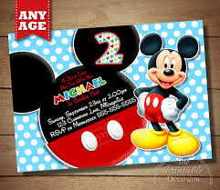 1 printable mickey mouse polka dot kids birthday invitation 2
