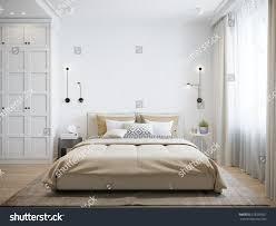 scandinavian room urban contemporary modern scandinavian bedroom interior stock