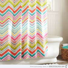 Bright Shower Curtain Contemporary Stylish Bright Colored Curtains And 15 Colorful