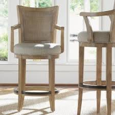 cushioned bar stool upholstered arm swivel bar stool foter