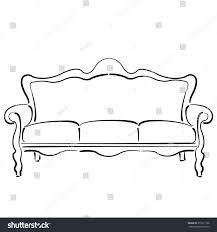 sketched sofa couch couch sketch vector stock vector 351811166