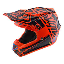 youth motocross helmet troy lee designs lightweight se4 polyacrylite youth motocross