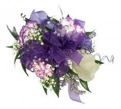 White Rose Wrist Corsage 3 White Lavender Min Carn 1 Rose Wrist Corsage In Akron Pa