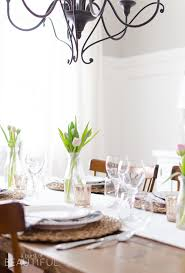 sweet simple spring tablescape