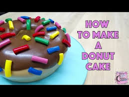 giant donut cake fun how to youtube