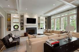 Fireplace With Built In Cabinets Built Ins Around Fireplace Living Room Traditional With Dark Gray