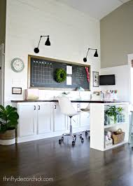 our craft room office hang out space wrapping station reveal