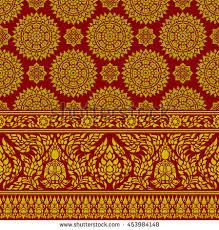 thai ornament background stock vector 453984148