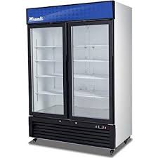 refrigerators with glass doors amazon com 2 door sliding glass merchandiser reach in