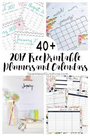 free planner template 40 awesome free printable 2017 calendars and planners sparkles want to organize your life for free check out this collection of over 40 awesome