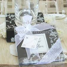 wedding coaster favors online cheap black amp white timeless traditions glass