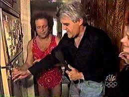 jay leno 1999 clip richard simmons tries to get people to