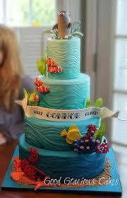 Ocean Cake Decorations Best 25 Sea Cakes Ideas On Pinterest Mermaid Cakes Cakes