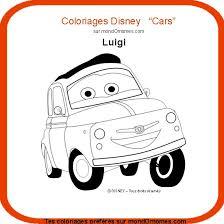 Coloriage Cars Luigi coloriage Cars