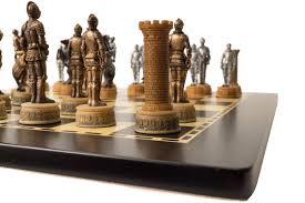 buy medieval armour resin chess set u0026 board at chessafrica co za